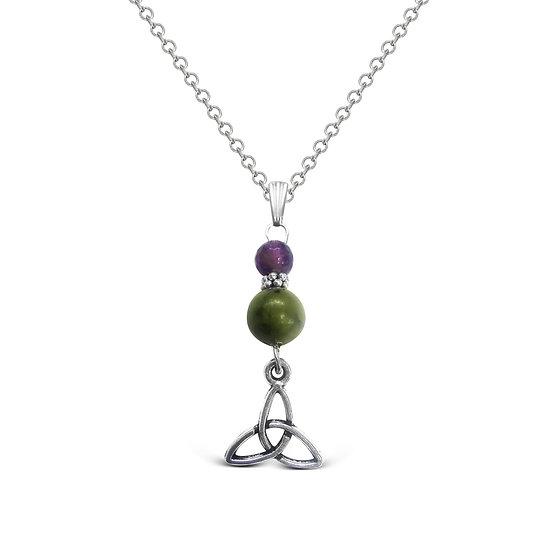 Connemara Amethyst Trinity Necklace