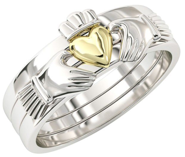 Stackable Gold Claddagh