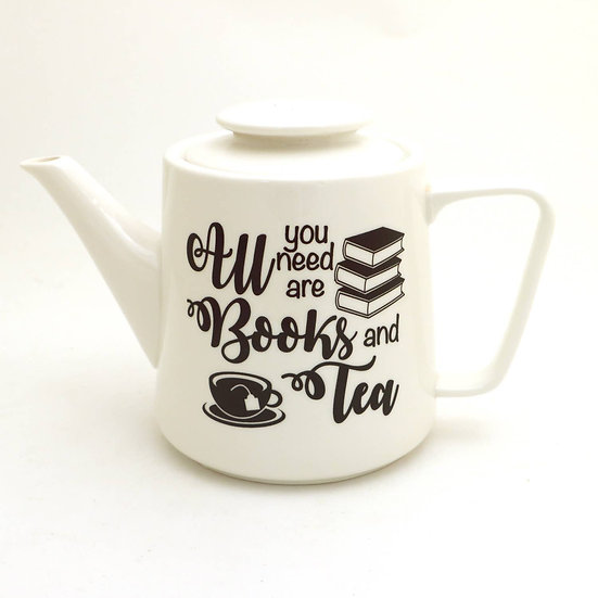Books & Tea Teapot