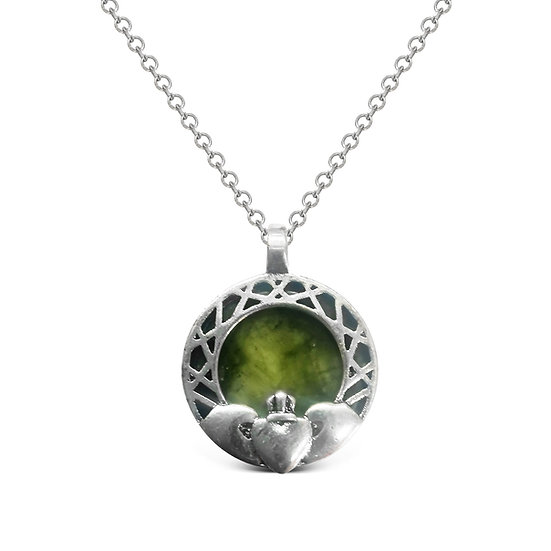 Connemara Claddagh Inlaid Necklace