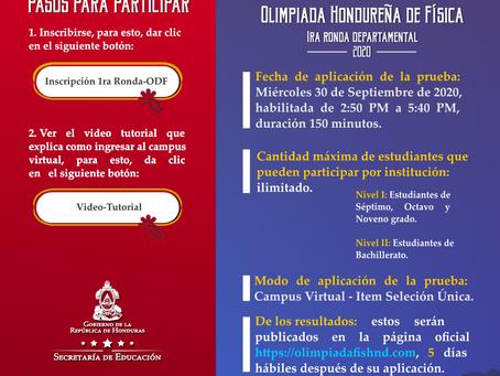 1ra Ronda de la 4ta Olimpiada Hondureña de Física