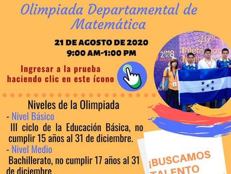 1ra Ronda de la Olimpiada Hondureña de Matemáticas