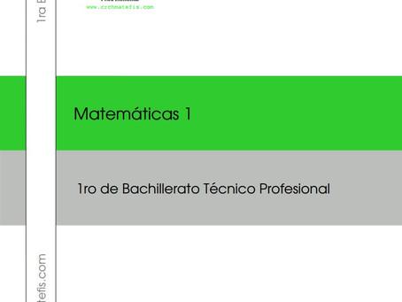 Crchmatefis en esta cuarentena te regala gratis para descargar el Libro Completo de Matemáticas 1