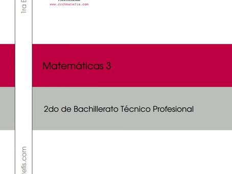 Crchmatefis en esta cuarentena te regala gratis para descargar el Libro Completo de Matemáticas 3