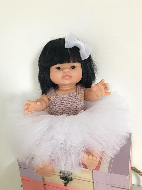 Tutu poupée blanc