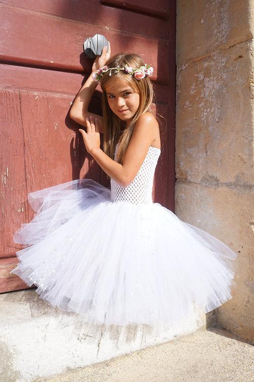 Robe tutu Cloé blanche