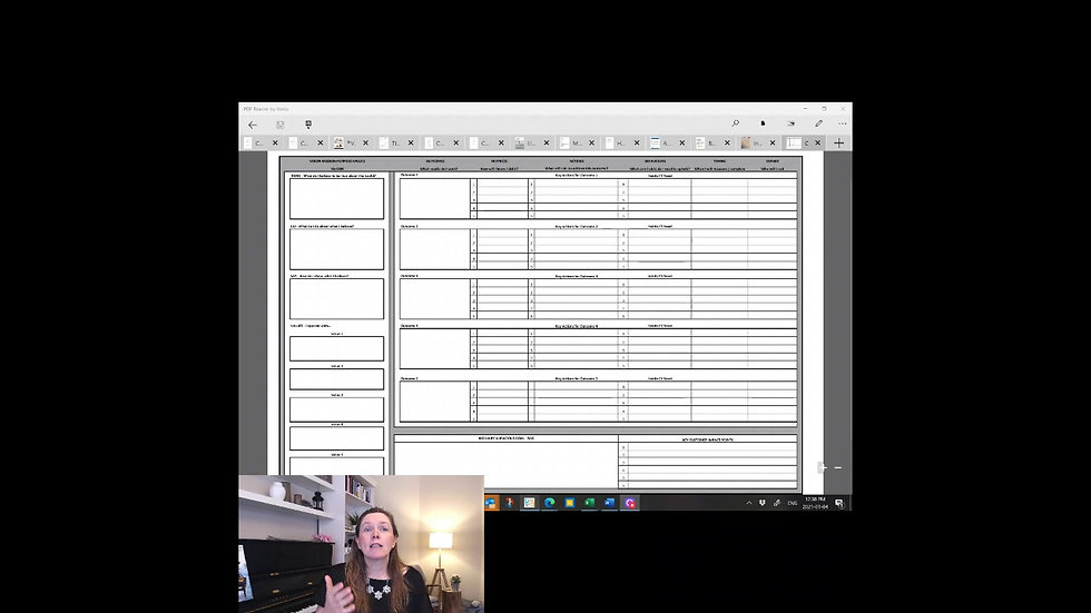 One Page Planner (PDF)