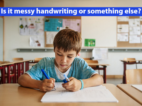 When it's more than just messy handwriting ...