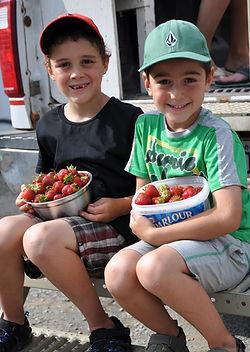Enfants à l'autocueillette