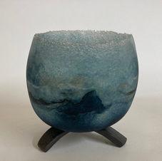 Blue Waves on Pedestal