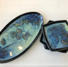 Galaxy Plate and Platter Set