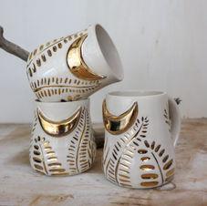 Gold Dust Moon Mugs