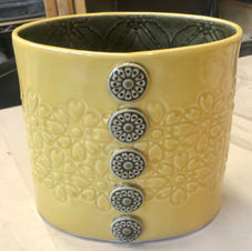 Yellow and Grey Vase