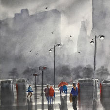 Foggy Rainy San Francisco