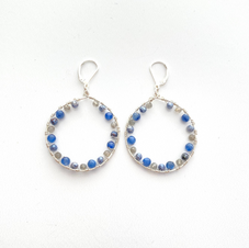 Blue and Gray Hoops