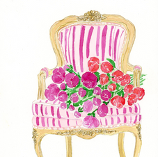 Louis XV Chair and Floral