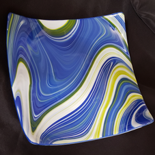 Blue Swirl Plate