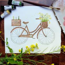 Napa Valley Mustard Bicycle