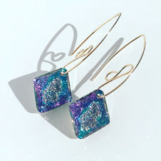 Large Crystal 14k Gold Filled Earrings