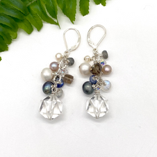 Quartz and Pearls Earrings