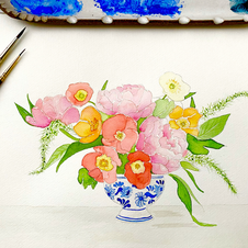 Floral and Chinoiserie No. 1