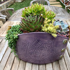 Large Purple Succulent Planter