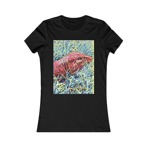 Red Tegu Lizard Women's Tee Shirt, Slim Fit, Lizard, Reptile