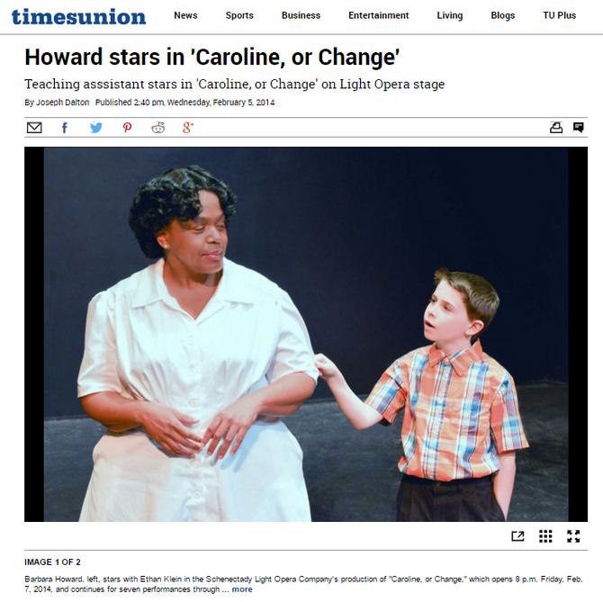 Barbara N. Howard Stars in 'Caroline, or Change.'