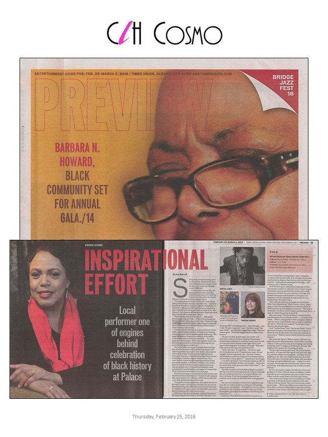 Barbara N. Howard is Featured as the Preview Cover and Two-Page Spread in the Times Union