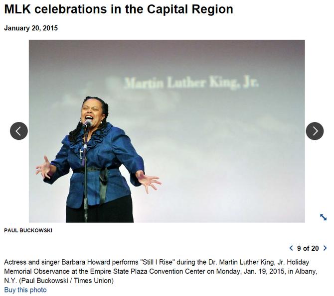 Barbara N. Howard Celebrates at the MLK Memorial