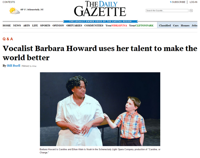 Barbara N. Howard Makes the World a Better Place According to The Daily Gazette