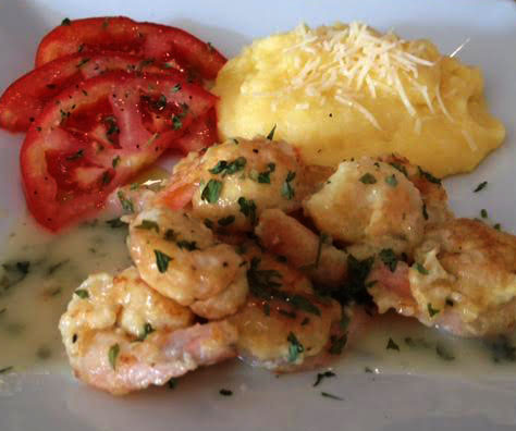 Lemon Shrimp Polenta