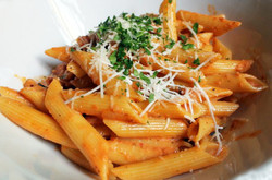 Penne in a Bolognese Sauce