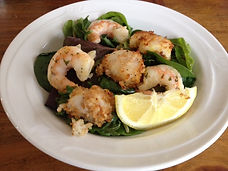 Shrimp and Scallop over Mixed Greens