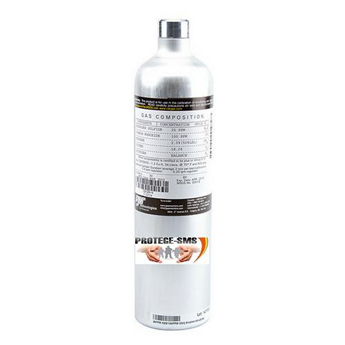 Cilindro para calibração 4 gases
