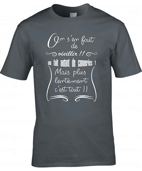 """T-shirt Homme """"On s'en fout"""""""