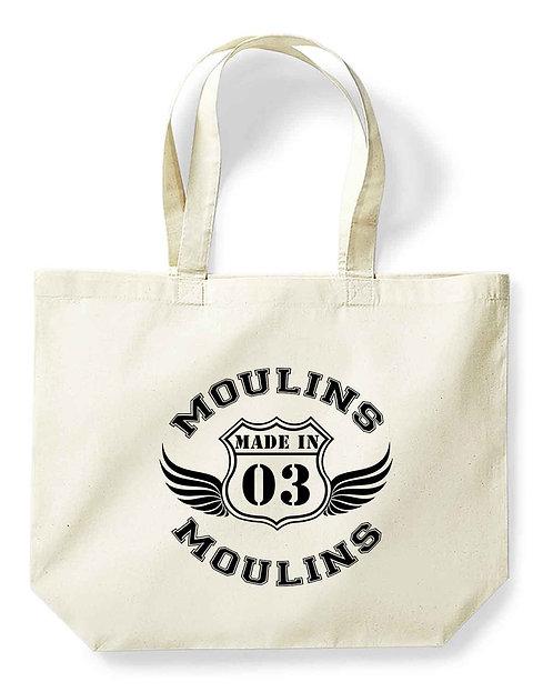 "Maxi-sac pour la vie ""Made in...Moulins"""