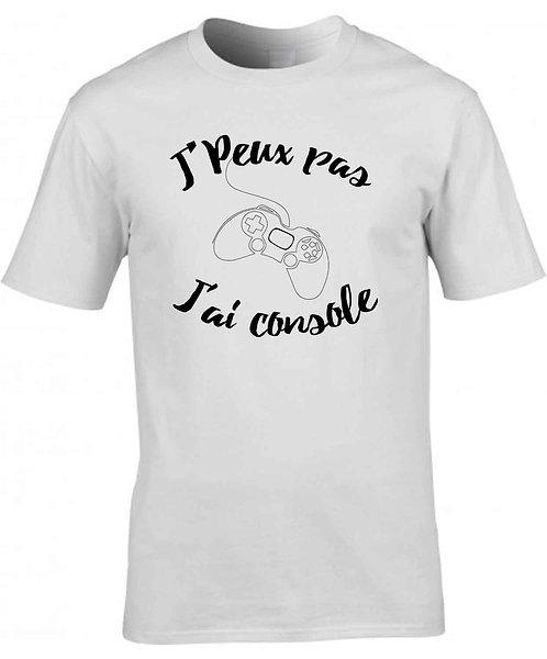 """T-shirt Homme """"J'peux pas, J'ai console"""""""