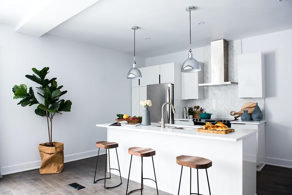 White Small Kitchen Design