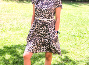 Cute & Comfy Leopard Dress Review from Pink Blush + $75 GIFT CARD GIVEAWAY!