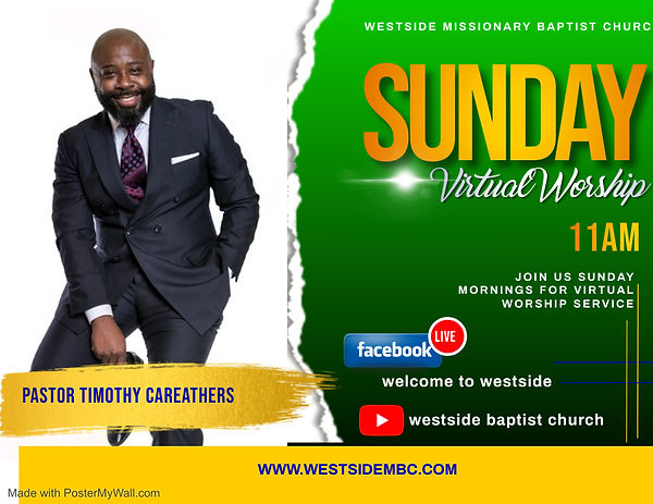 virtual Sunday service - Made with Poste