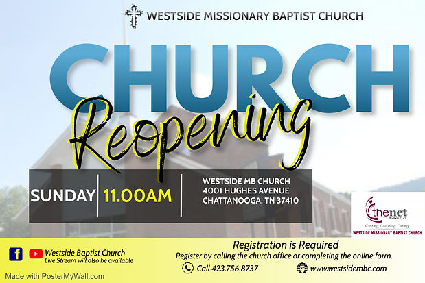 Church Reopening Sunday service Flyer -