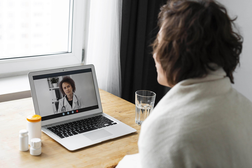 Patient Talking to Doctor Online