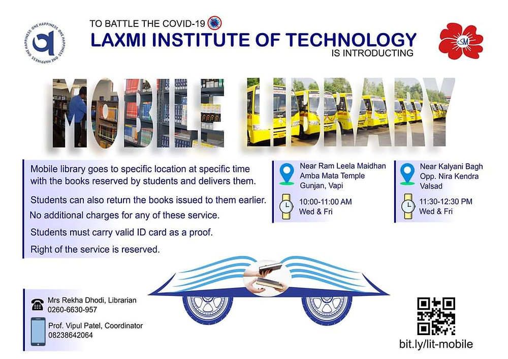 Mobile Library-Laxmi-Institute-of-Technology-Library-on-Wheels