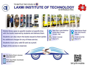 Mobile Library: An innovative initiative by Laxmi Institute of Technology, Sarigam
