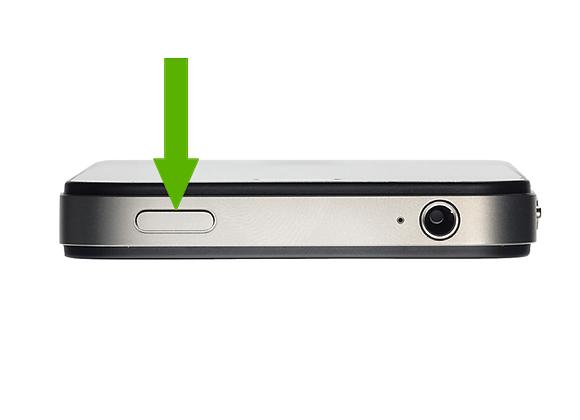 iPhone 4 Tænd/Sluk knap