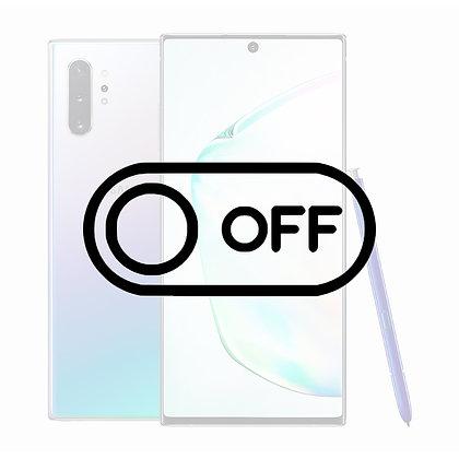 Samsung Note 10 Tænd/sluk knap