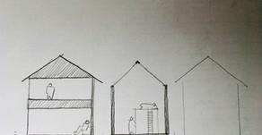 都市型、住宅密集地での平屋