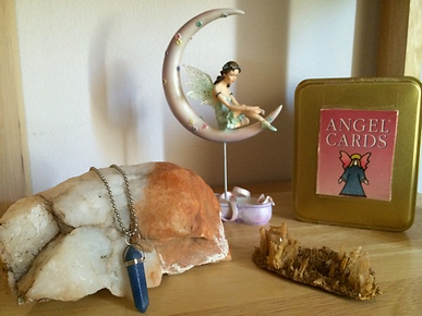 angel cards, crystal, fairy, and pendulu