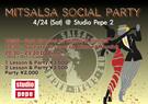 4/24 (Sat) Mitsalsa Social Party